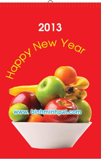 Printed calendar in Binh Minh Packaging