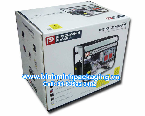 Petrol generator packaging boxes