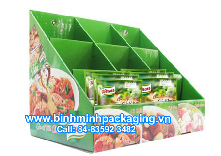 Knorr paper display shelves