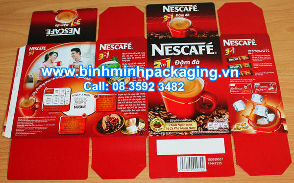 Nescafe coffee packaging boxes