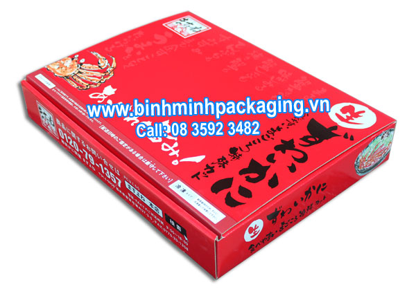 Seafood Packaging box exports to Japan