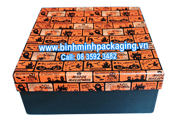 Paper box for gift in halloween festival