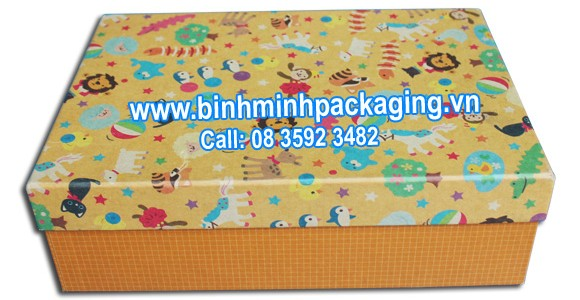 yellow paper box for gift
