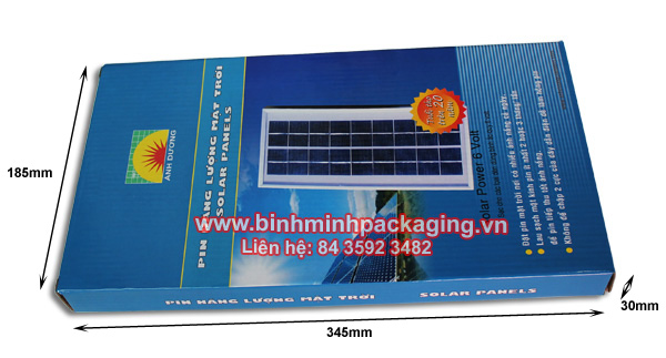 detail Solar panels packaging box