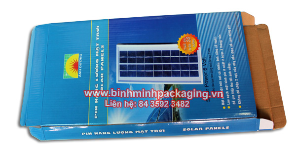 more image Solar panels packaging box