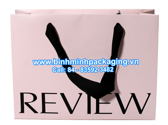 Sample paper bag for fashion shop stores