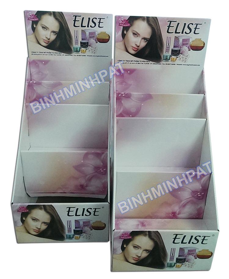 cosmetic paper shelf