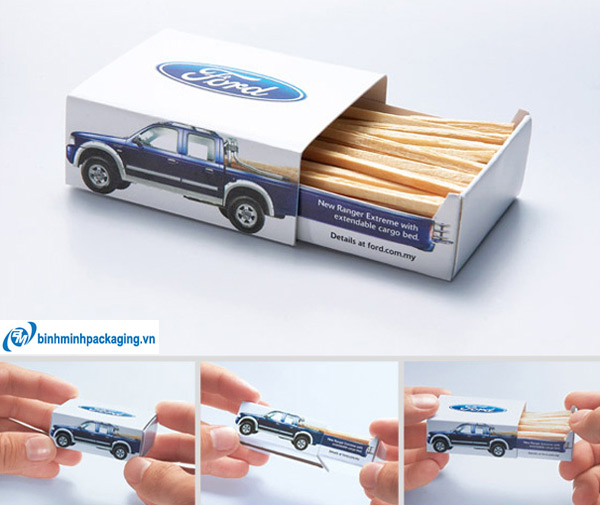 Novelty matches promoting Ford trucks.
