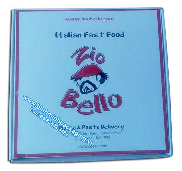 Zio Bello pizza box, custom pizza box