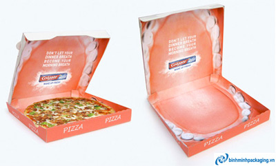 Mouth wide open pizza box
