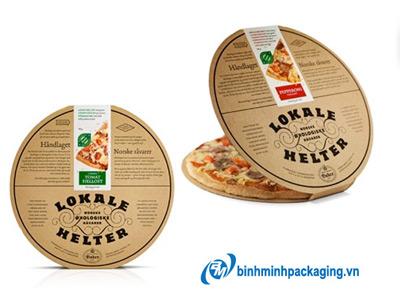 Round pizza box