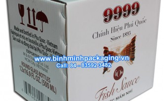 carton packaging box for fish sauce