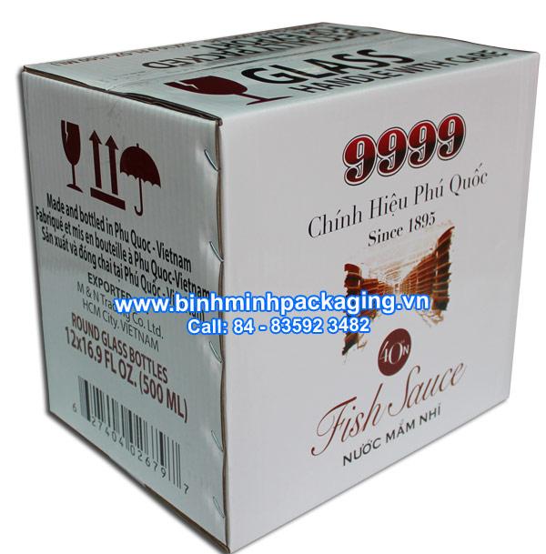 carton packaging box for fish sauce