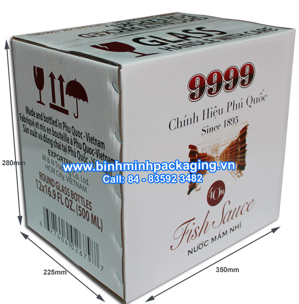 Specifications packaging box for fish sauce