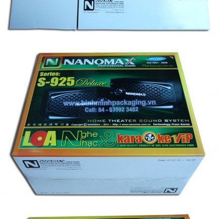 NaNoMax S-925 Speakers packing box