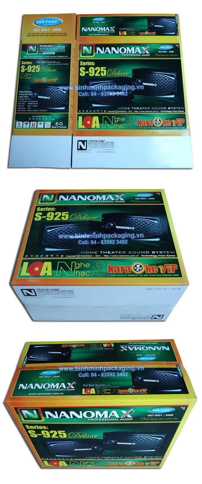 NaNoMax S-925 Speakers packing box