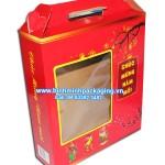 Combo festival 2014 carton box, Pantone lucky red