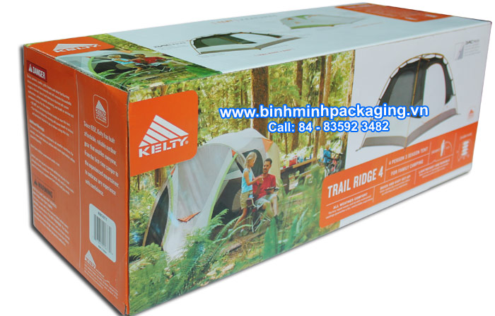 Corrugated CartonBox for Tents & Shelters – Kelty Trail Ridge 4