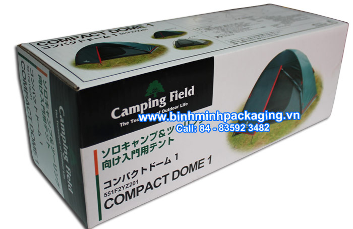 CMYK Printing Corrugated Carton Box For Camping Field
