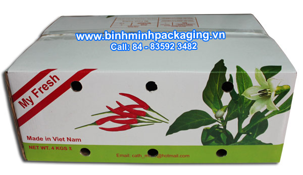 Packaging corrugated carton box for Fresh Chilli