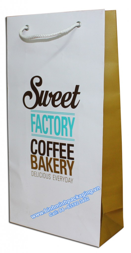 Offset printing paper bags