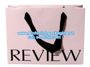 Sample paper bag for fashion shop stores