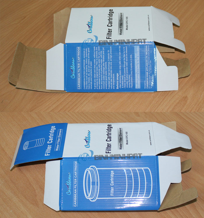 3 Ply Carton Box - Pure Water Filter Box With Offset Printing