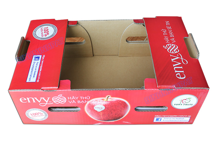 Hight quality Corrugated apple fruit packaging boxes - img03