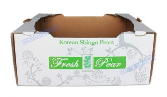 White Corrugated Pear Packing Boxes Fruit Cartons - img01