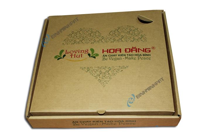 Take away brown kraft paper custom pizza box -01