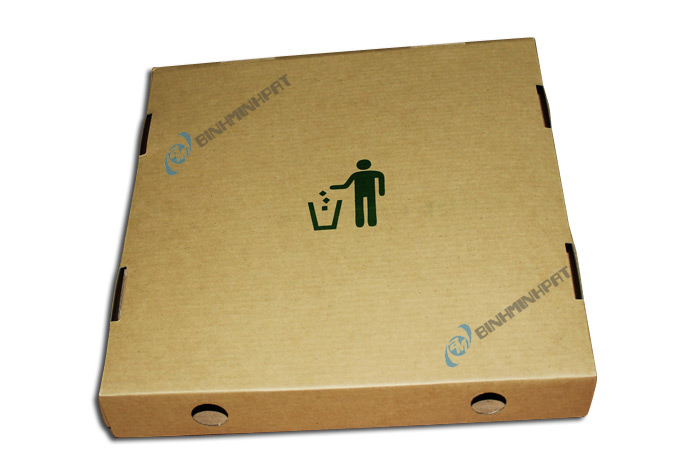 Take away brown kraft paper custom pizza box -img02