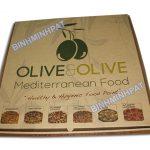 Take away brown kraft paper custom pizza box
