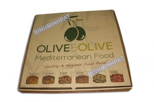 Take away brown kraft paper custom pizza box -img05