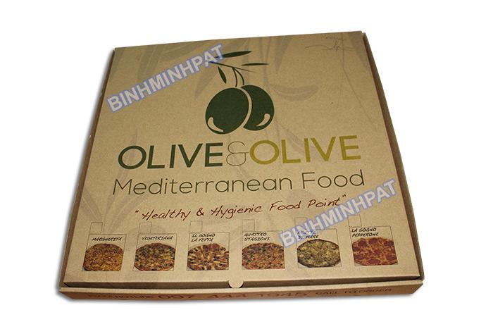 Take away brown kraft paper custom pizza box -img05