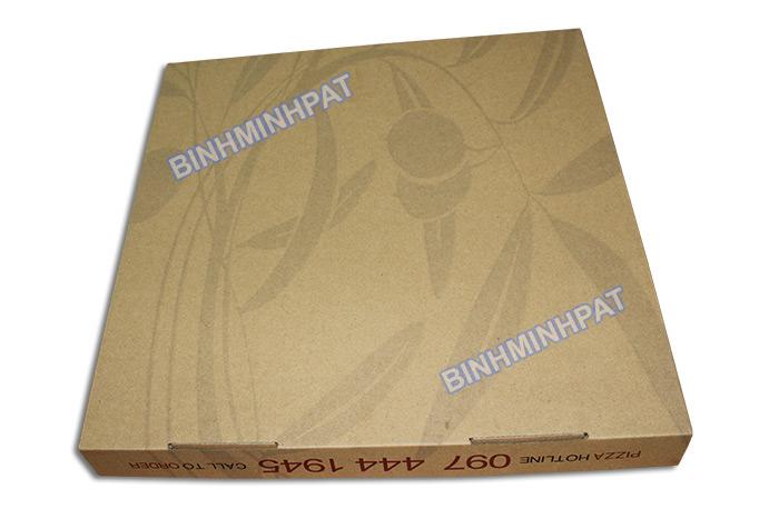 Take away brown kraft paper custom pizza box -img06