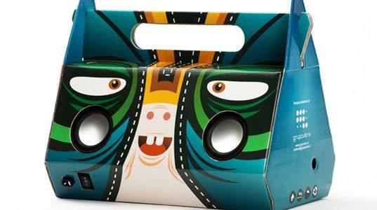 Funky Cardboard Speakers bring music to our ears!