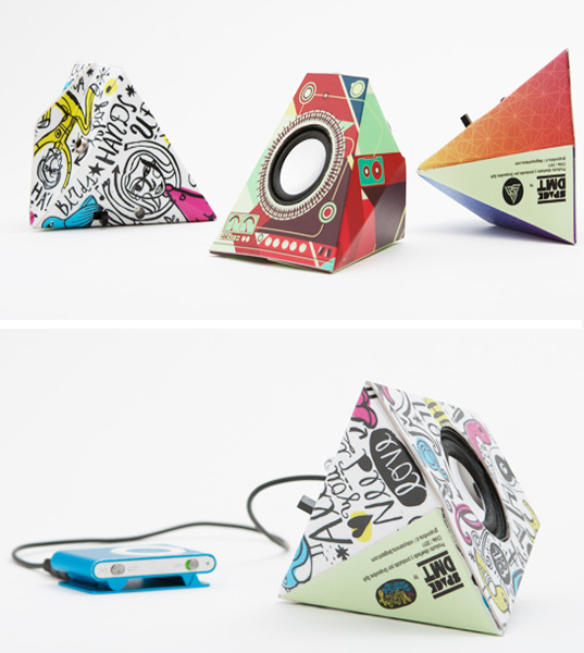 Funky Cardboard Speakers bring music to our ears! -img02