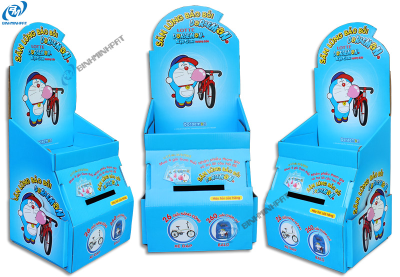 DORAEMON Paper Display Shelves for Gummy Candy
