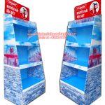 Supermarket Paper Display Shelves (Light blue Color) – 4 Storey, Type Large