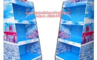 Supermarket Paper Display Shelves (Light blue Color) - img 01