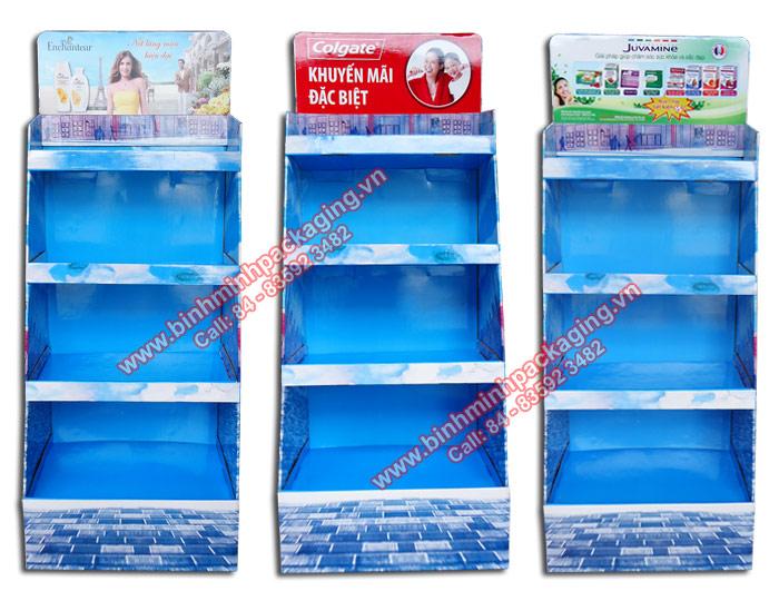 Supermarket Paper Display Shelves (Light blue Color) - img 02