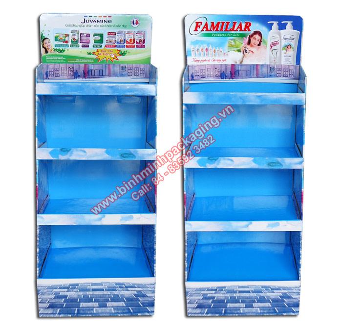 Supermarket Paper Display Shelves (Light blue Color) - img 03