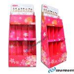 Supermarket Paper Display Shelves (Prink Color) – 4 Storey, Type Large