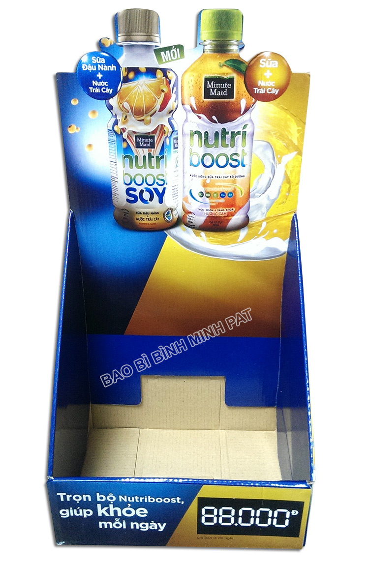 Nutri Boost Soy Display Shelf, Cardboard Milk Display Rack