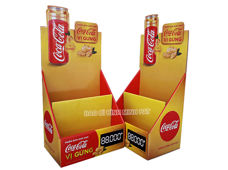 Coca Cola Paper Display Shelves