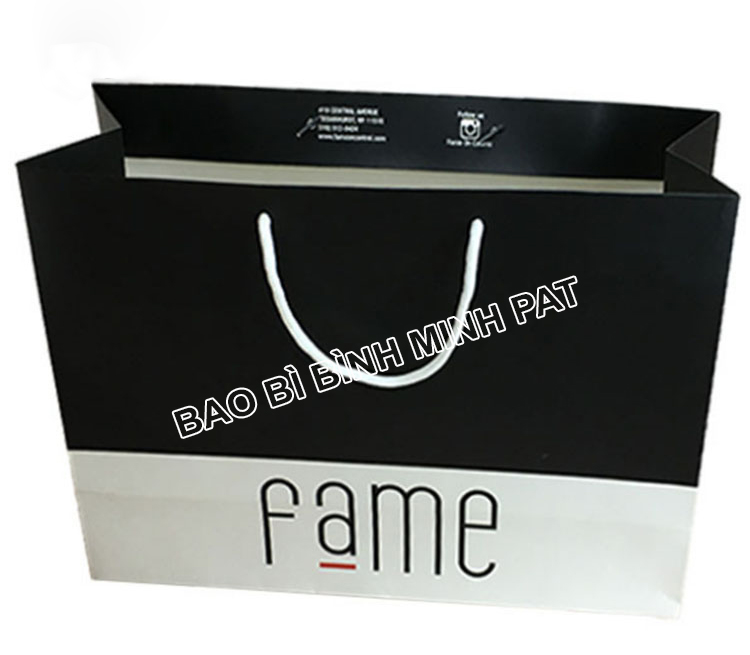 Custom bag ivory paper clothing packaging bag paper - img 01