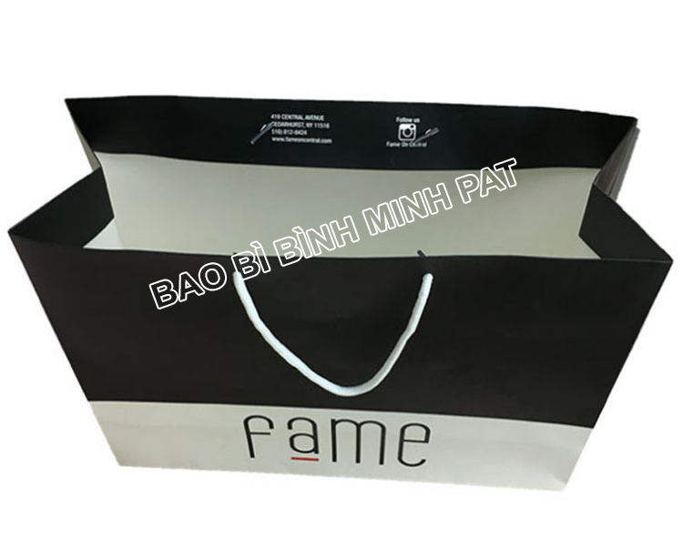 Custom bag ivory paper clothing packaging bag paper - img 02