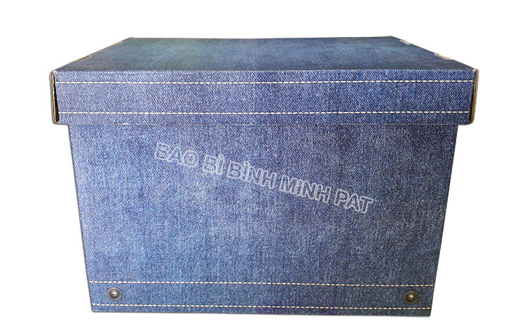 Fashionable luxury custom paper clothing jean packaging box - img06
