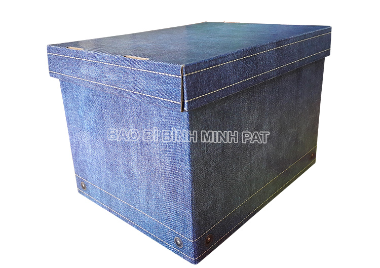 Fashionable luxury custom paper clothing jean packaging box - img01