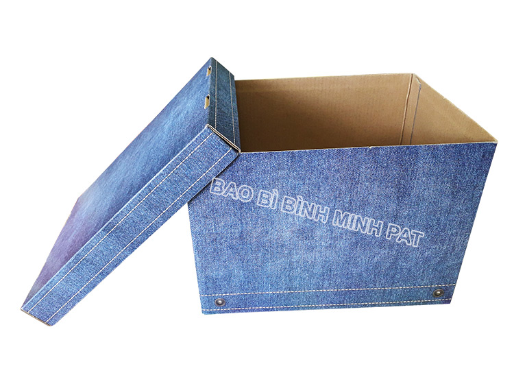 Fashionable luxury custom paper clothing jean packaging box - img02